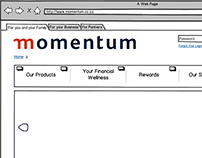 momentum.co.za - Re-design - Wireframes