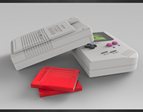 GAMEBOY - (SolidWorks & KeyShot)