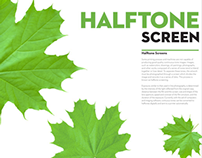Halftone Screen Educational Poster