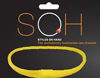 Touchscreen pen-bracelet branding.