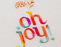 Oh Joy! embroidered logo