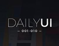 Daily UI: 001–010