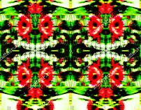 glitch hibiscuse flower illustration