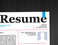 Newspaper Style . Resume Template