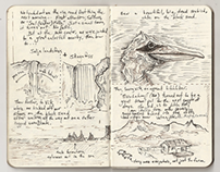 Ísland (Iceland) Sketch Journal (Excerpts)