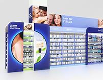 Nivea - Shelves display