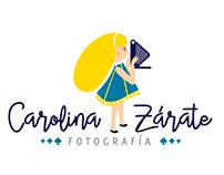 Diseño de logo para fotografa Chilena, Carolina Zárate.