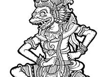 """Balinese Hanoman """"Puppet"""" Style"""