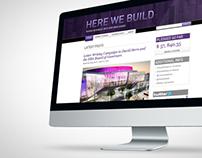 Visual + Interaction Design - HereWeBuild.com