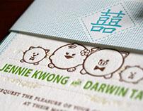 Letterpress - Jennie & Darwin Wedding Invitations