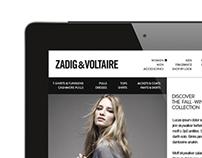 Tablet | Zadig & Voltaire Concept