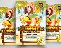 Summer Beach Flyer Free Template