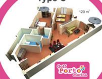 Golf Porto Marina 3D Floor plane