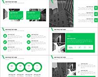 Best Blue Creative business PowerPoint template