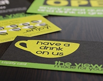 The View cafe branding