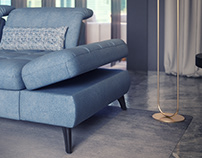3d Modeling , 3d visualization and animation of sofa