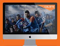 colors cricket team web design..