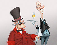 The Wealthy & the Butler - Character Design