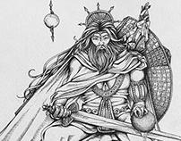 Book illustrations Part 1: Auroranora - King Arsonna