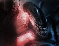 Alien concept painting