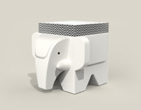 Post-it + Paper Weight / India Elephant