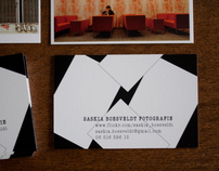 A mini portfolio in business cards