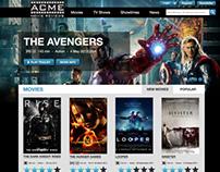 Acme Movie Review Website Design