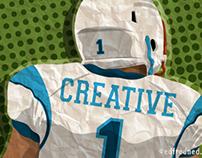 Creative Quarterback Editorial Illustration