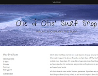 Olie & Otis OnePage Design