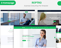 REPTRO – Business Consulting PSD Template