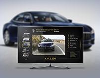 Automotive TV App UI-UX - Design