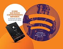 Anúncio Revista. Wood´s no Spotify.