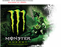 Monster Energy AB Banner Large Format