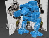 Modelado de robot mecha en 3d