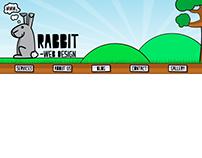 "Logos and website banner for ""Rabbit Web Design"""