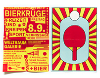 Flyer Vernissage Bierkrüge