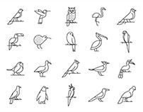 20 Bird Vector Icons
