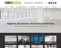 ODM Electrical Contractors - Custom Web Design