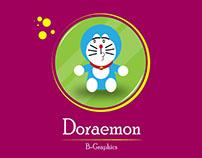 Doraemon Flat Illustration