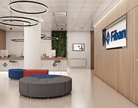 Contest Project for Fibank's new office spaces