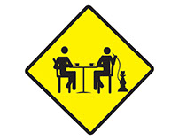 Warning cafe tables ahead