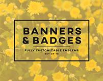 Banners & Badges - Set of 10   Creative Market
