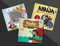 Coloring Books For Kids (DE) Ninja Pirate Knights