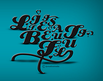 LIFE IS BEAUTIFUL TYPOGRAPHY