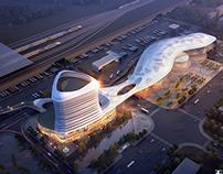 3d rendering-passenger station