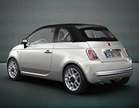 500C - Cabrio Design / C Column Black Matte Modify