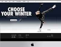 Nike Choose Your Winter Mobile, Tablet, Desktop Design