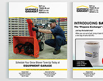 Flyer Designs: Equipment Garage