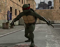 animation 3d TMNT