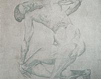 naked woman 150х150 см 2016